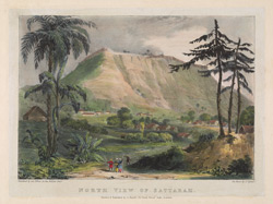 North view of Sattarah. Plate 7 from 'Eight Most Splendid Views of India, sketched by an Officer in the Indian Army', published by Baron A. Friedel, London, 1833.